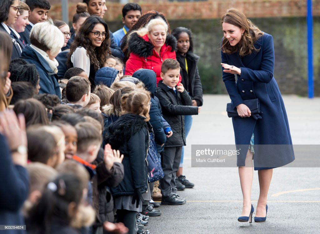Catherine, Duchess Of Cambridge Visits Reach Academy Feltham