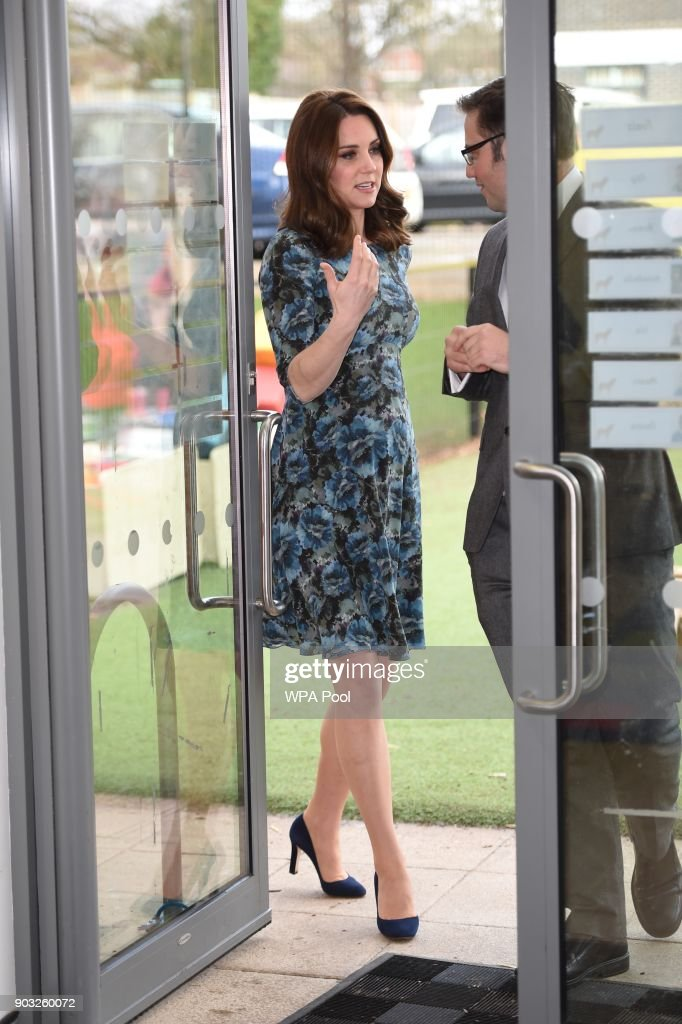 The Duchess Of Cambridge Visits Reach Academy Feltham With Place2Be : News Photo
