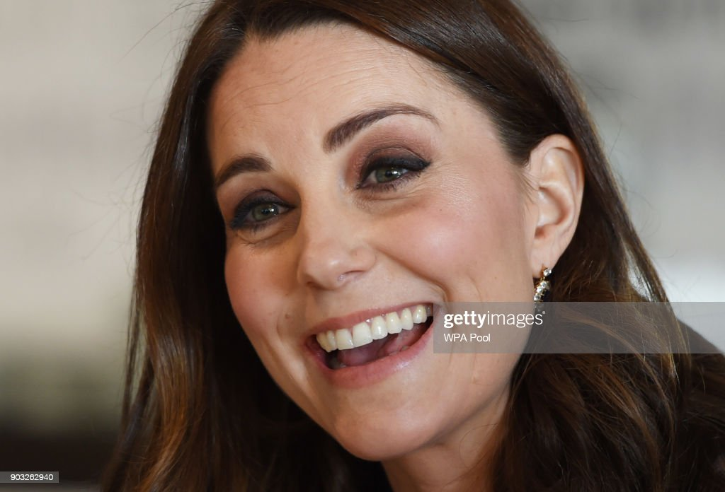 Catherine, Duchess of Cambridge visits the Reach Academy with Place2Be on January 10, 2018 in London, England. The Duchess of Cambridge has been patron of Place2Be since 2013, reflecting her interest in children's mental health and the importance of supporting children and families to give children the best possible start in life.