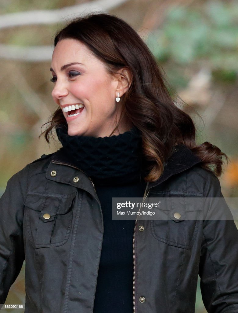 The Duchess Of Cambridge Visits Robin Hood Primary School : News Photo