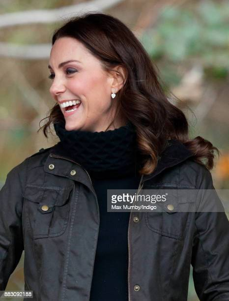 Catherine Duchess of Cambridge visits the Robin Hood Primary School to celebrate ten years of The Royal Horticultural Society campaign for school...