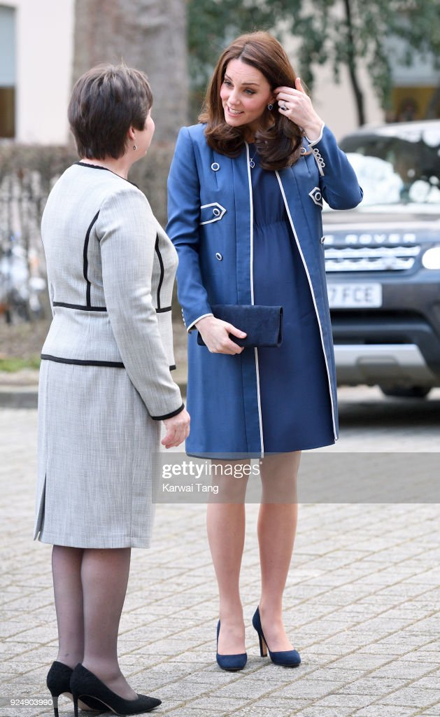 Catherine, Duchess of Cambridge visits the Royal College of Obstetricians and Gynaecologists on February 27, 2018 in London, England.