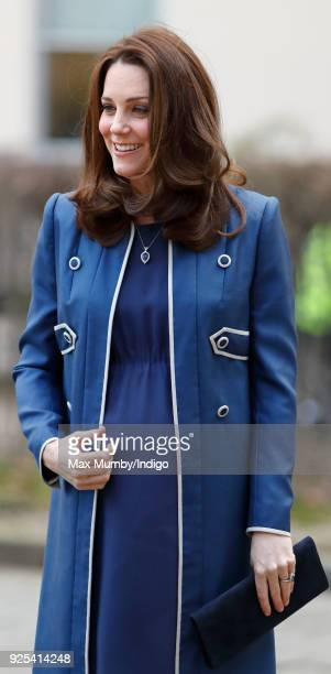 Catherine Duchess of Cambridge visits the Royal College of Obstetricians and Gynaecologists on February 27 2018 in London England
