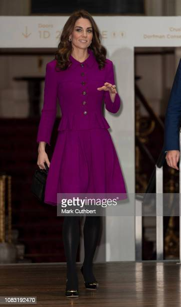 Catherine Duchess of Cambridge visits The Royal Opera House on January 16 2019 in London England The visit is to learn more about their use of...