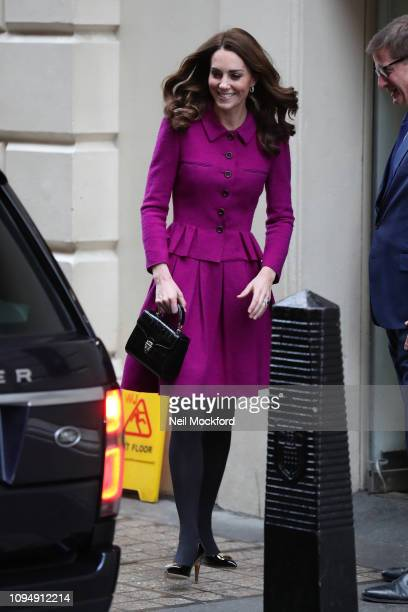 Catherine Duchess of Cambridge visits The Royal Opera House on January 16 2019 in London England to learn more about their use of textiles...