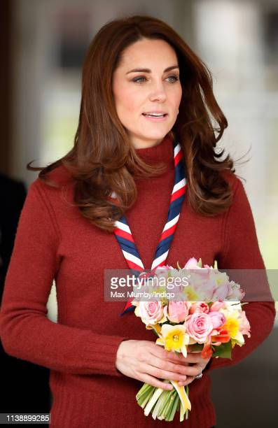 Catherine, Duchess of Cambridge visits the Scouts' headquarters at Gilwell Park, to learn more about the organisation's new pilot scheme to bring...