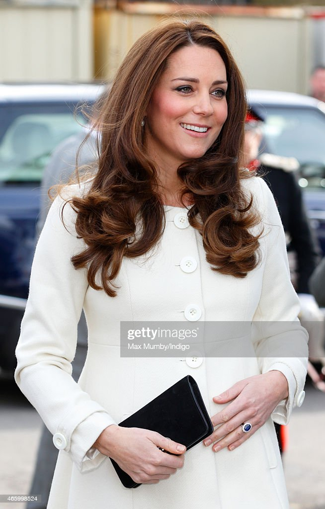 """The Duchess Of Cambridge Visits The Set Of """"Downton Abbey"""" At Ealing Studios : News Photo"""