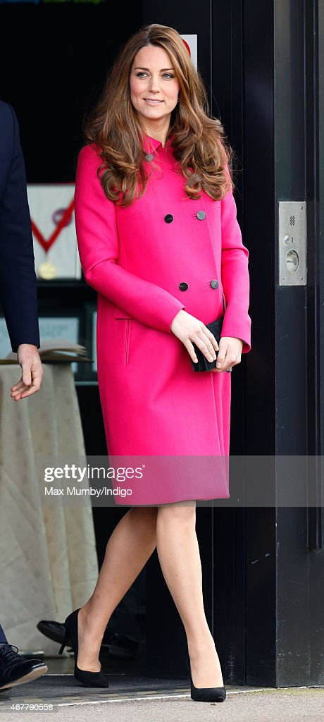 Catherine, Duchess of Cambridge visits the Stephen Lawrence Centre, Deptford during a day of engagements to support development opportunities for young people on March 27, 2015 in London, England.