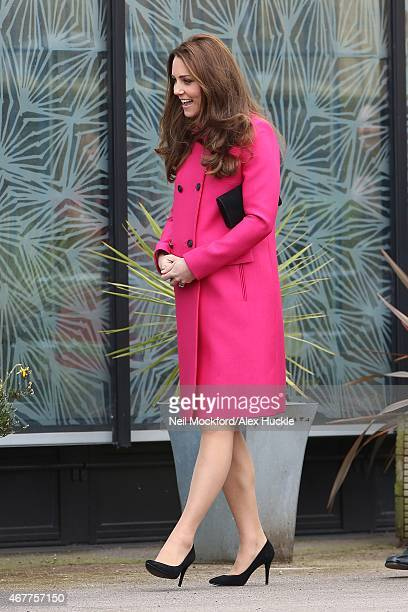 Catherine Duchess of Cambridge visits the Stephen Lawrence Centre in Deptford on March 27 2015 in London England