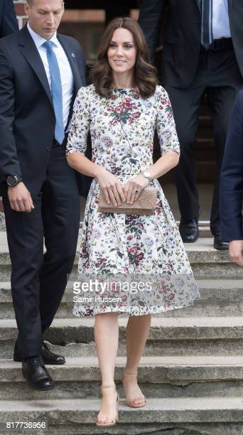 Catherine Duchess of Cambridge visits the Stutthof concentration camp during an official visit to Poland and Germany on July 18 2017 in Gdansk Poland