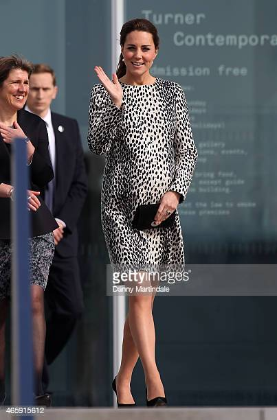 Catherine, Duchess of Cambridge visits the Turner Contemporary Art Gallery on March 11, 2015 in Margate, England.