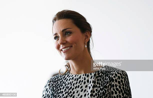 Catherine Duchess of Cambridge visits the Turner Contemporary Gallery on March 11 2015 in Margate England