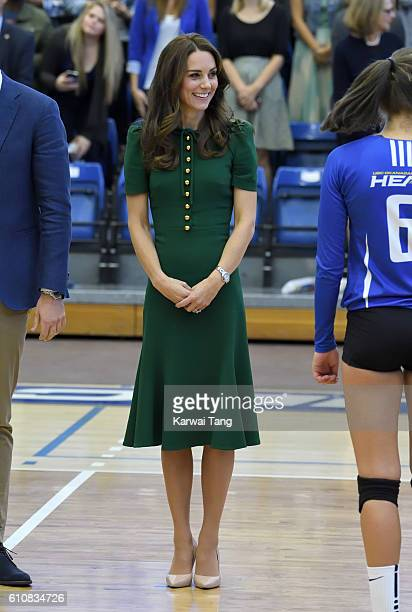 Catherine Duchess of Cambridge visits the University of British Columbia on September 27 2016 in Kelowna Canada
