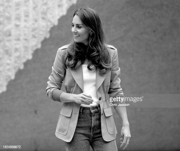Catherine, Duchess of Cambridge visits 'The Urban Nature Project' at The Natural History Museum on June 22, 2021 in London, England. The Natural...