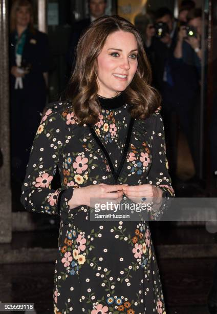 Catherine Duchess of Cambridge visits the 'Victorian Giants' exhibition at National Portrait Gallery on February 28 2018 in London England