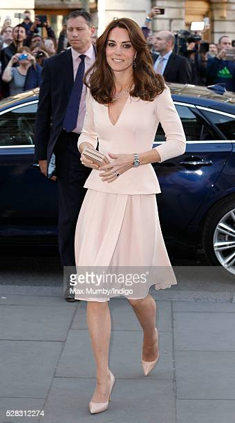 Catherine Duchess of Cambridge visits the 'Vogue 100 A Century of Style' exhibition at the National Portrait Gallery on May 4 2016 in London England...