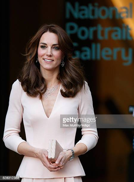 Catherine, Duchess of Cambridge visits the 'Vogue 100: A Century of Style' exhibition at the National Portrait Gallery on May 4, 2016 in London,...