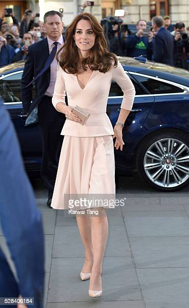 Catherine Duchess of Cambridge visits the Vogue 100 A Century Of Style exhibition at National Portrait Gallery on May 4 2016 in London England The...