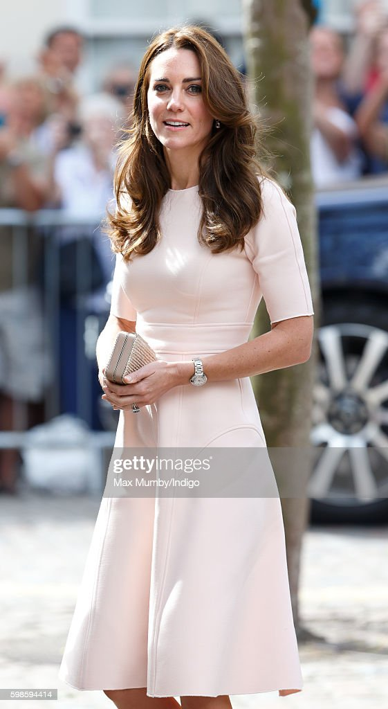 Catherine, Duchess of Cambridge visits Truro Cathedral on September 1, 2016 in Truro, England.