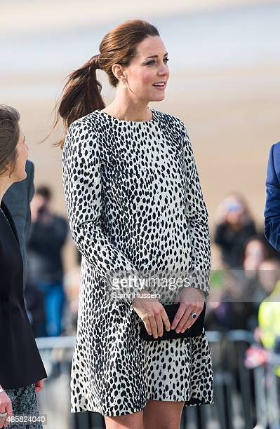 Catherine Duchess of Cambridge visits Turner Contemporary Gallery on March 11 2015 in Margate England