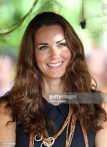 Catherine, Duchess of Cambridge visits Tuvanipupu Island on their Diamond Jubilee tour of the Far East on September 17, 2012 in Honiara, Guadalcanal...