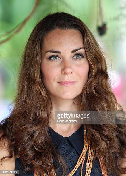 Catherine Duchess of Cambridge visits Tuvanipupu Island on their Diamond Jubilee tour of the Far East on September 17 2012 in Honiara Guadalcanal...