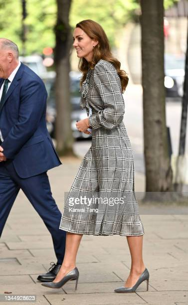 Catherine, Duchess of Cambridge visits University College of London to meet with leading researchers to discuss new holistic studies into the early...