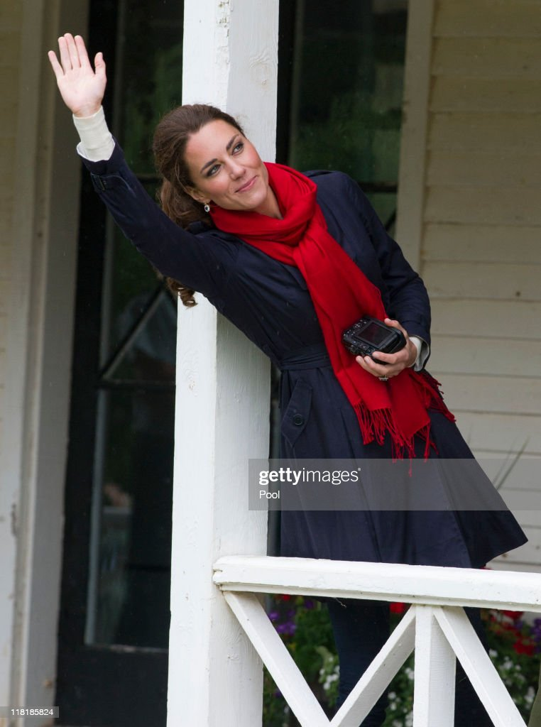Catherine, Duchess of Cambridge wave as Prince William, Duke of Cambridge takes part in helicopter manouvres called 'water birding' across Dalvay lake on July 4, 2011 in Charlottetown, Canada. The newly married Royal Couple are on the fifth day of their first joint overseas tour. The 12 day visit to North America is taking in some of the more remote areas of the country such as Prince Edward Island, Yellowknife and Calgary. The Royal couple started off their tour by joining millions of Canadians in taking part in Canada Day celebrations which mark Canada's 144th Birthday.