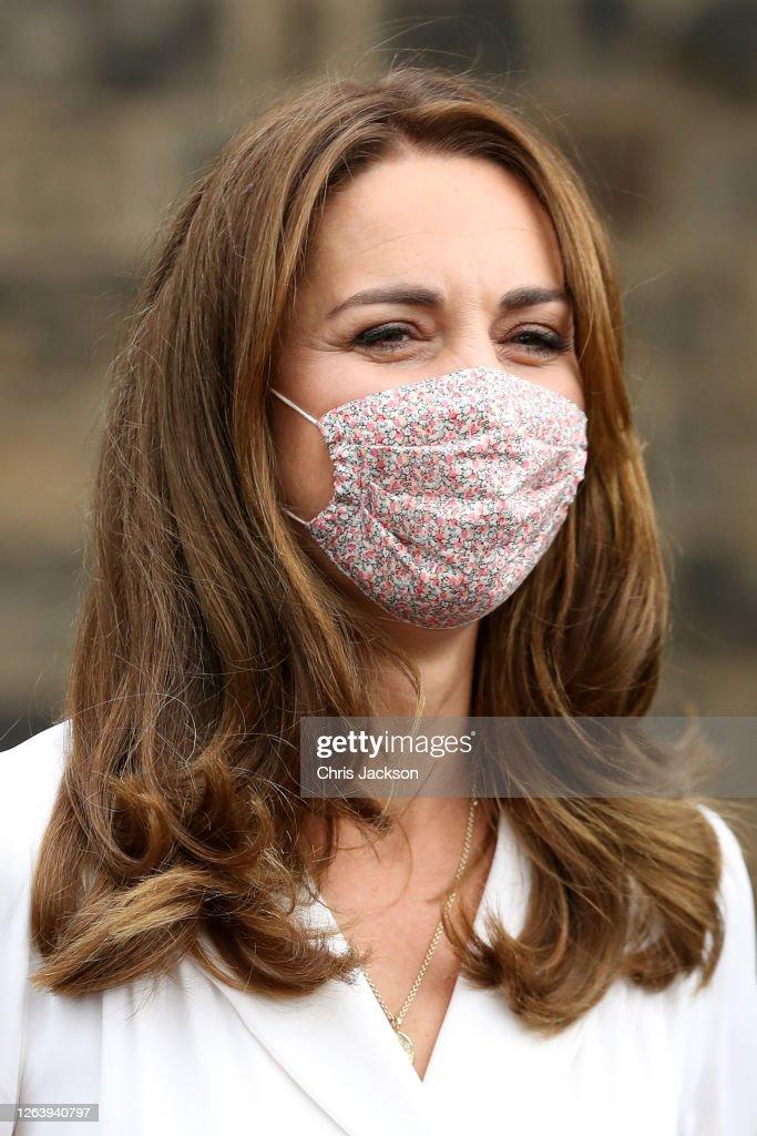 The Duchess Of Cambridge Visits Baby Basics UK And Baby Basics Sheffield : News Photo