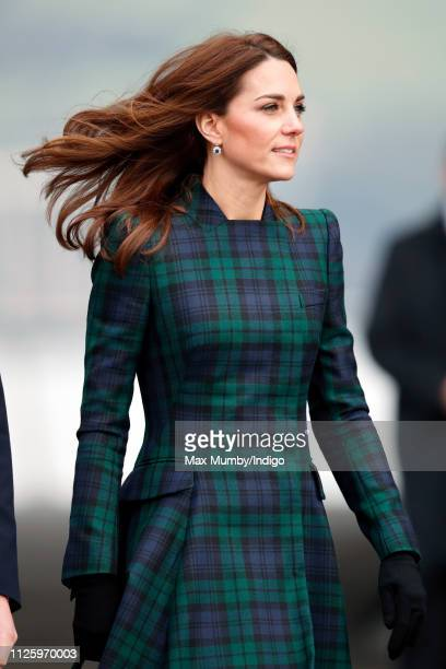 Catherine, Duchess of Cambridge, who is known as the Duchess of Strathearn in Scotland, arrives to officially open V&A Dundee, Scotland's first...