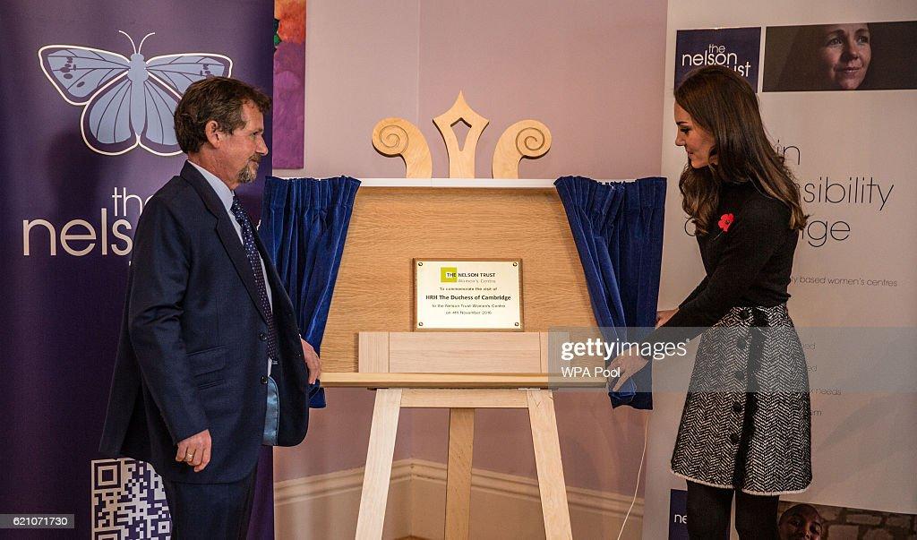 The Duchess Of Cambridge Visits The Nelson Trust Women's Centre : News Photo