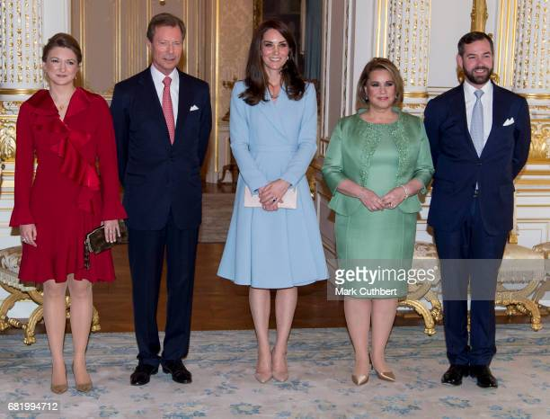 Catherine Duchess of Cambridge with Henri Grand Duke of Luxembourg and Maria Teresa Grand Duchess of Luxembourg and Stephanie Hereditary Grand...