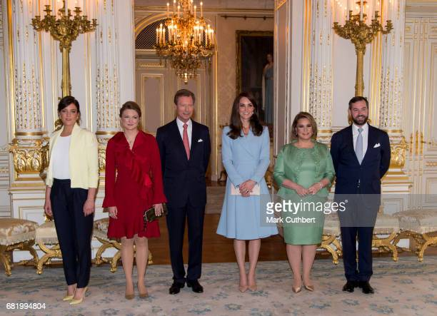 Catherine Duchess of Cambridge with Henri Grand Duke of Luxembourg and Princess Alexandra of Luxembourg and Maria Teresa Grand Duchess of Luxembourg...