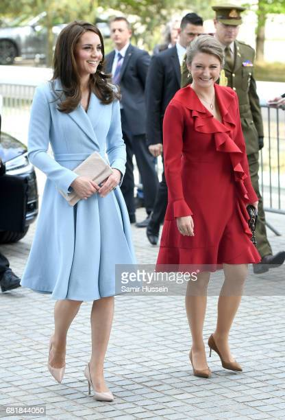 Catherine Duchess of Cambridge with Princess Stephanie of Luxembourg visit the Grand Duke Jean Museum of Modern Art where she will view exhibitions...