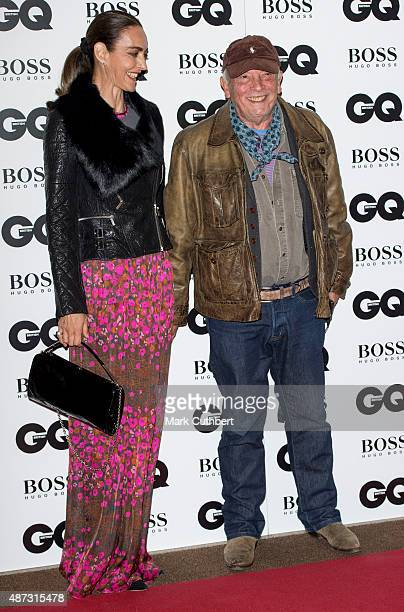 Catherine Dyer and David Bailey attend the GQ Men of the Year Awards at The Royal Opera House on September 8 2015 in London England