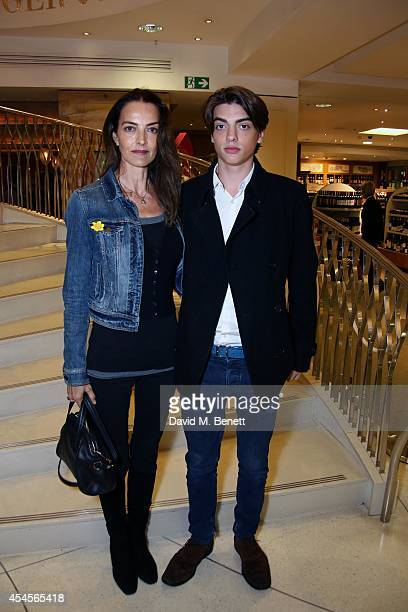 Catherine Dyer and Sasha Baily attend the 'Aegean Memories after party hosted by Jerry Hall and Prof Armand Leroi at Fortnum Mason on September 3...