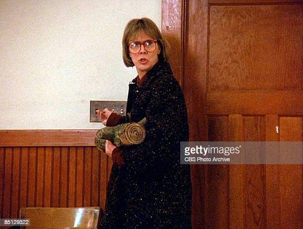 Catherine E Coulson as The Log Lady stars in the pilot episode of the CBS television series 'Twin Peaks' 1990