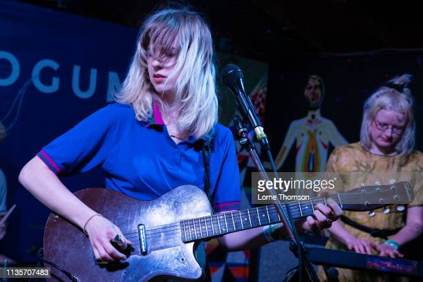 Catherine Elicson and Emily Shanahan of Empath perform at Cheer Up Charlies on March 13 2019 in Austin Texas