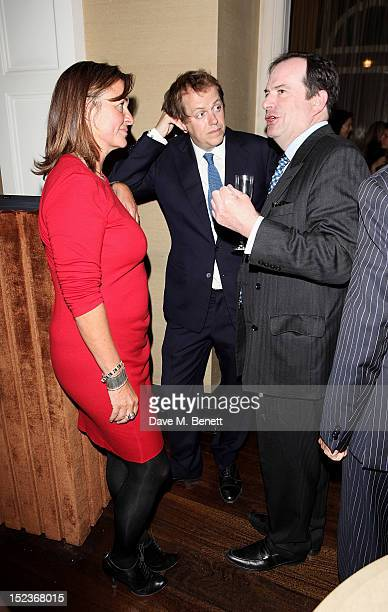 Catherine Fairweather Tom Parker Bowles and Philip Astor attend a cocktail party hosted by new EditorinChief of Harper's Bazaar UK Justine Picardie...