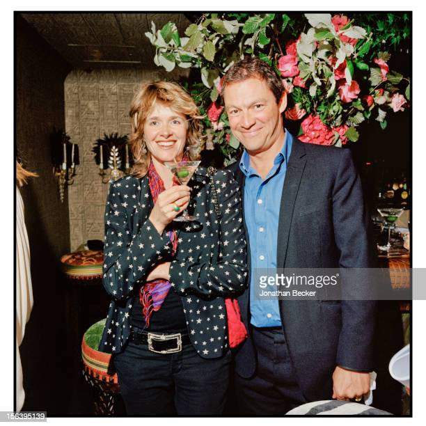 Catherine FitzGerald and Dominic West are photographed at 5 Hertford Street, which is home to the nightclub Loulou's for Vanity Fair Magazine on June...