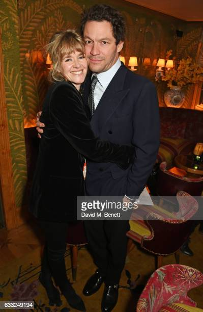 Catherine Fitzgerald and Dominic West attend the Farms Not Factories #TurnYourNoseUp at Pig Factories benefit dinner 'Upstairs' at 5 Hertford Street...
