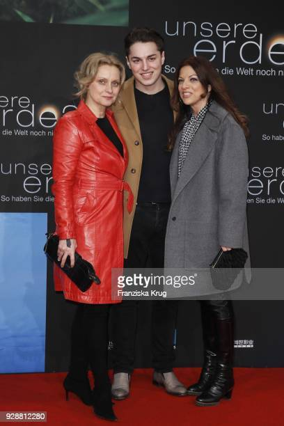 Catherine Flemming David Zechbauer and Alice Brauner during the 'Unsere Erde 2' premiere at Zoo Palast on March 7 2018 in Berlin Germany