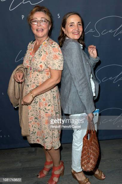 Catherine Frot and Dominique Blanc attend La Scala reopens on September 11 2018 in Paris France