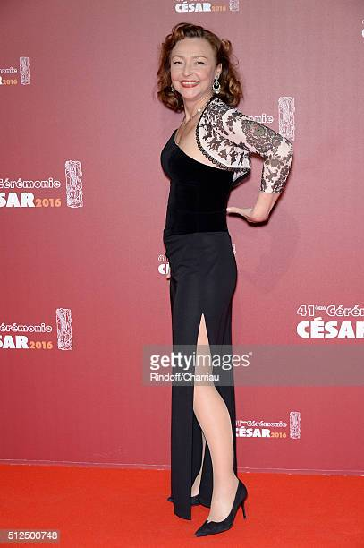 Catherine Frot arrives at The Cesar Film Awards 2016 at Theatre du Chatelet on February 26 2016 in Paris France