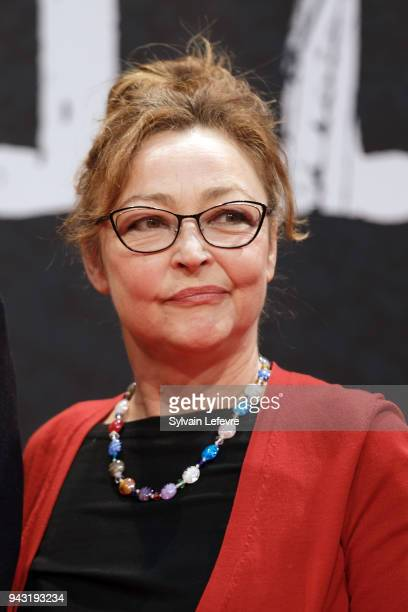 Catherine Frot attends closing ceremony of 10th Beaune International Thriller Film Festival on on April 7 2018 in Beaune France