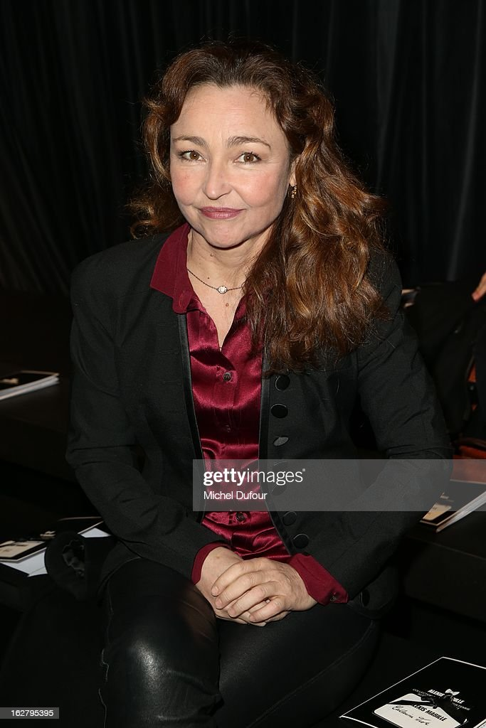 Catherine Frot attends the Alexis Mabille Fall/Winter 2013 Ready-to-Wear show as part of Paris Fashion Week on February 27, 2013 in Paris, France.