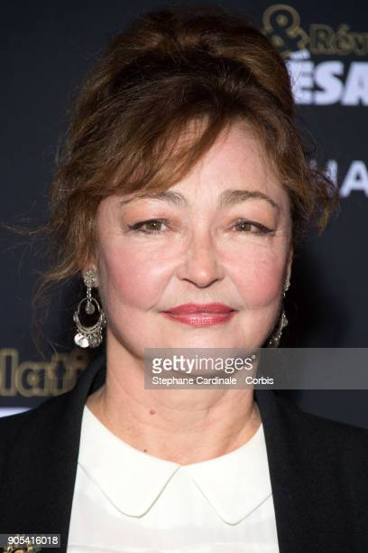 Catherine Frot attends the 'Cesar Revelations 2018' Party at Le Petit Palais on January 15 2018 in Paris France