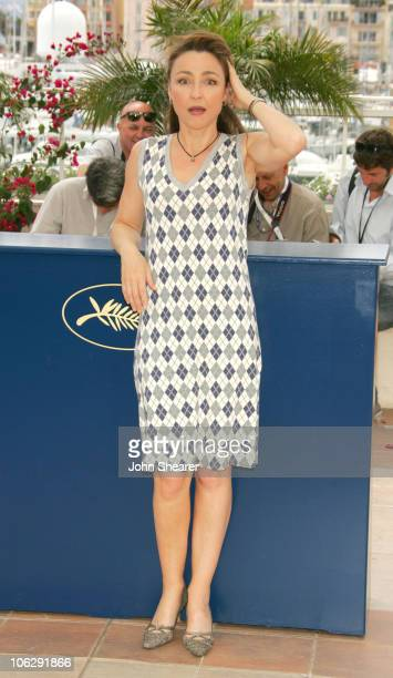 Catherine Frot during 2006 Cannes Film Festival La Tourneuse De Page Photocall at Palais Du Festival in Cannes France