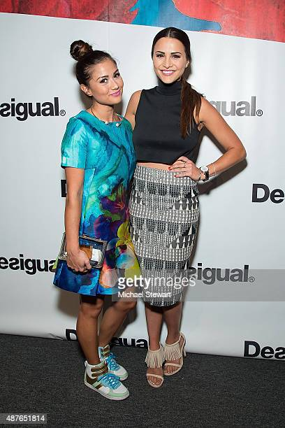 Catherine Giudici Lowe and Andi Dorfman attend the Desigual fashion show during Spring 2016 New York Fashion Week at The Arc, Skylight at Moynihan...