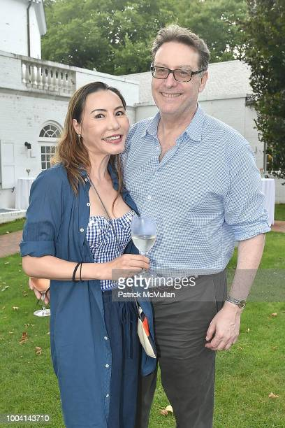 Joanne Kruger Dr Bernard Kruger and Guest attend the East Hampton Summer Screening Of 'The Wife' at Guild Hall on July 22 2018 in East Hampton New...